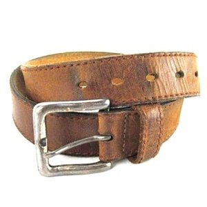 VTG Levis Leather Belt Rugged Rustic Well Worn